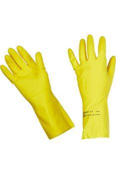 Перчатки желтые латексные Vileda Contract