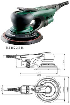 Эксцентриковая шлифмашина Метабо SXE 150-2.5 BL