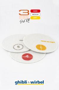 Комплект падов хромо-алмазных для полировки (красный, белый, желтый)