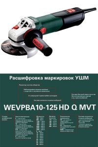 Мощная болгарка Metabo WEVA 15-125 Quick