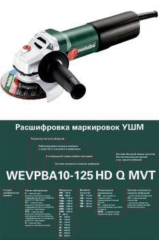 Угловая шлифмашинка Metabo WQ 1100-125