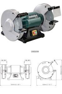 Мощный шлифовальный станок (точило) Metabo DSD 250