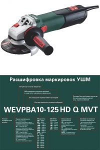 Мощная болгарка Metabo WEV 15-125 Quick Inox HT