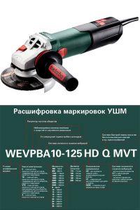 Мощная болгарка Metabo W 13-125 Quick