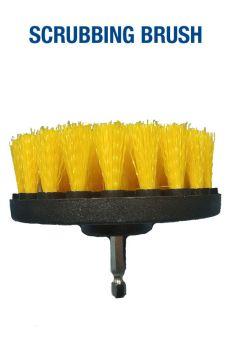 Щетка желтая средней жесткости 100 мм (4') под дрель / шуруповерт