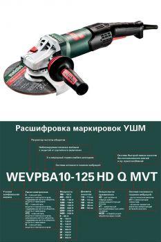 Болгарка двуручная Metabo WE 19-180 Quick RT
