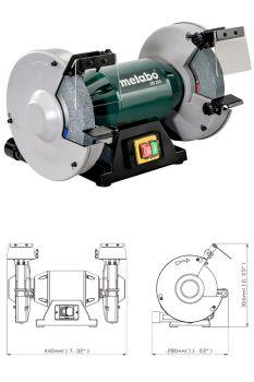 Электрическое точило Metabo DS 200 с кругом 200 мм