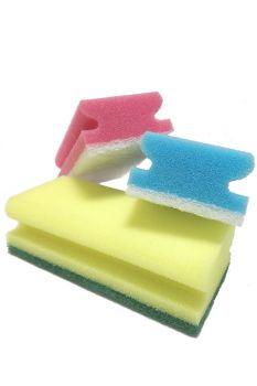 Комплект абразивных губок (красная, синяя, жёлтая) 150 х 70 мм