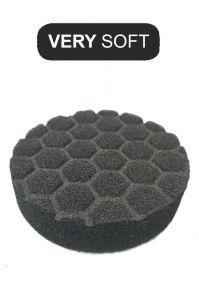Пад поролоновый чёрный мягкий 100 мм (4` дюйма) под липучку