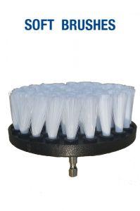 Щетка мягкая белая 100 мм (4') под дрель / шуруповерт